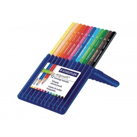 STAEDTLER ergosoft - 12 Crayons de couleurs - couleurs assorties