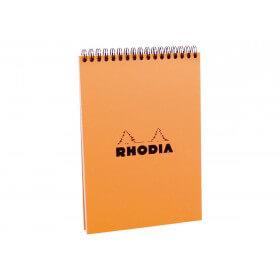 Rhodia Classic - Bloc notes à spirales - A5 - 80 pages - petits carreaux - à spirales